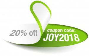 20% Off Sitewide - Use Code JOY2018