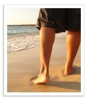 Walking meditation feet in motion
