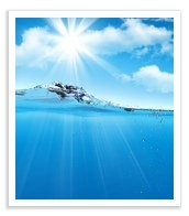 Improving mental clarity represented by water and light