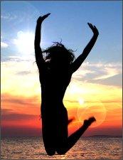 meditation girl jumping