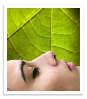 Passive relaxation script symbolized by a relaxed womans face